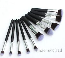 10pcs Kabuki Style Professional Brush Make up Blusher Face Powder Foundation FRR