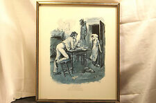 Charles Dickens Character Print Dick Swiveller The Old Curiosity Shop Oak Frame