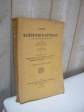 Vessiot & Montel : Cours de MATHEMATIQUES générales, éléments de calcul intégral