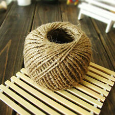 30 Meter Natural Hemp Rope Macrame Twisted Cord for Crafts Gardening