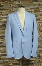 Magee Mens Light Blue Lined Cotton Summer Jacket with Patch Pockets Size 38R New