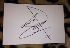 SHANE FILAN SIGNED 6X4 WHITE CARD MUSIC AUTOGRAPH EX WESTLIFE 100% GENUINE