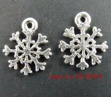 30pcs Tibet Silver Snowflake Charms Pendants 13.5x11.5mm 11470