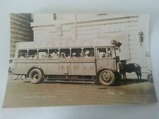 1930's Bus Shanghai China Antique Real Photo Postcard Vintage Keds Sneakers Ad