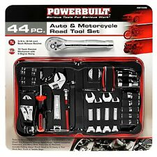 Powerbuilt 44-Piece Auto & Motorcycle Road Tool Set Zipper Pouch to Store Easily