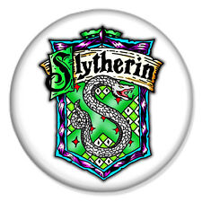 "HARRY POTTER - Slytherin Crest White 25mm 1"" Pin Badge Button J K Rowling"