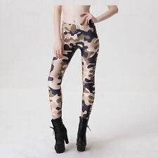 Vogue Women's Slim  Camouflage Camo Printed Stretch Pants Leggings Trousers