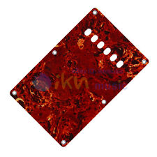 IKN 1pcs 3Ply Red Tortoise Electric Guitar Back Plate Tremolo Cover M551