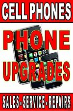 "Advertising Poster 24""X36"" Phone Upgrades - Sales - Service - Repair, Cell Phone"