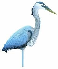 Heron Decoy Fowl Lake Life Size Full Body Blue All Weather Koi Fish Pond Water
