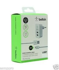 Universal Belkin Home Wall Charger 2 Port Dual USB Power Adapter 10 Watt 2.1 amp