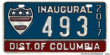 2017 Presidential Inauguration Washington DC Reproduction Aluminum License Plate