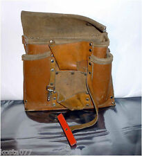 Vintage CRAFTSMAN Tan LEATHER All Purpose Utility TOOL POUCH