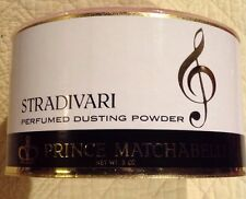 Prince Matchabelli Stradivari 5 Oz. Dusting Powder with Pink Applier New