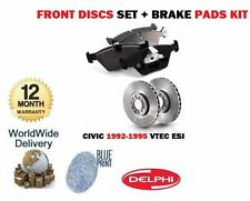 FOR HONDA CIVIC 1.6 VTEC ESi D16Z6 1992-1995 NEW FRONT BRAKE DISC SET + PADS KIT