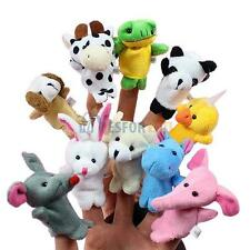 10 Pcs Puppets Cloth Doll Baby Educational Hand Cartoon Animal Family Finger Toy