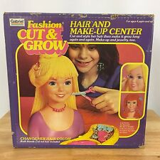 Vintage 1981 Gabriel Fashion Cut & Grown Toy Hair & Make-Up Center in Box New