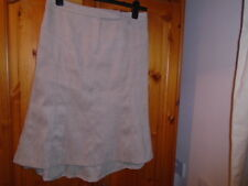 Beige suede feel dipped hem knee to calf length skirt, NEXT, size 10