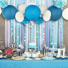 13pcs Blue Beach-Themed Party Paper Crafts Decor for Wedding Birthday Baby Show