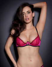 Agent Provocateur MEGAN BRA in HOT PINK TULLE & RED LACE - 34B - BNWT