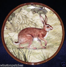 "CERTIFIED INT CORP SUSAN WINGET RUSTIC NATURE BREAD & BUTTER PLATE 5 7/8"" RABBIT"