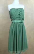 NWT After Six Apple Spice Green Strapless Prom Bridesmaid Cruise Dress 8 #6620
