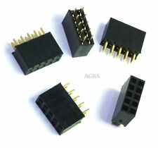 5pcs 2x5 10 pin 2.54mm Double Row Female Straight Header Pitch Socket Pin Strip