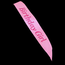 BIRTHDAY GIRL Sash in PINK Sashes Accessory Party Decor Girls Night OUT Buy more