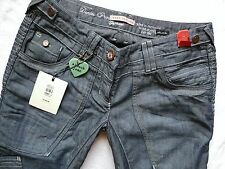 River Island slouch relaxed jeans mid blue hand crafted RRP44.99 size 10 R W30