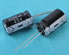 1P 2200UF 25V Radial Electrolytic Capacitor NEW