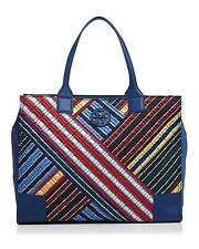 NWT ❤️ TORY BURCH ELLA QUILTED STRIPE Multi Color LARGE TOTE SHOPPER BAG 33032