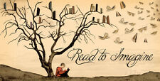 Read to Imagine Collections Art Poster Print by Jeanne Stevenson, 36x18