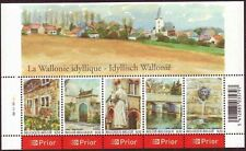 Belgium**WALLONIE VILLAGES-SHEET 5 stamps-FLOWERS-FOUNTAINS-Farmhouse-2006-MNH