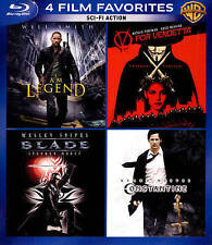 4 FILM FAVORITES (Blu-Ray) Blade I AM LEGEND V FOR VENDETTA CONSTANTINE NEW