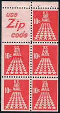 #C72c 1968 10 CENT SLOGAN 5 AIRMAIL BOOKLET ISSUE MINT-