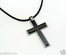 hot Wholesale Men's Cross Pendant alloy necklace
