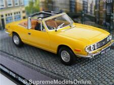 TRIUMPH STAG CAR MODEL 1/43RD SIZE YELLOW 2 DOOR SPORTS 1970'S TYPE Y0675J^*^