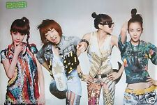 """2NE1 """"COLORFUL OUTFITS"""" ASIAN POSTER -Cute & Sexy Korean Girl Group, K-Pop Music"""