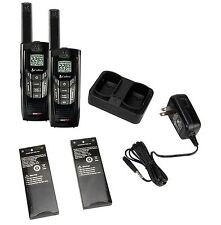 (2) COBRA CXR-925 35 Mile 22 Channel UHF/FM NOAA Two-Way Radios Walkie Talkies