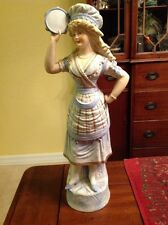 Large Bisque Woman Figurine German? French? Rare