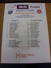 12/04/2014 Colour Teamsheet: Barnet v FC Halifax Town (folded). Bobfrankandelvis