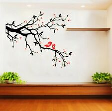 Black Tree & Red Bird Removable Vinyl Wall Decal Sticker Mural Home Room Decor