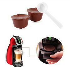 2x Refillable Reusable Coffee Capsule Pods Cup for Nescafe Dolce Gusto Machine k