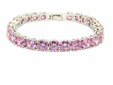 SILVER PINK SAPPHIRE 27Ct BRACCIALE TENNIS