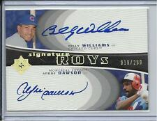 2005 ULTIMATE HOF BILLY WILLIAMS & ANDRE DAWSON DUAL AUTO #D/250 CUBS