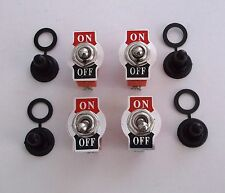 4 BBT Marine Grade On/Off 20 amp 12 volt Heavy Duty Toggle Switches w/ Boots