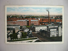 VINTAGE POSTCARD BIRD'S EYE VIEW OF THE AMOSKEAG MILLS IN MANCHESTER NH 1939