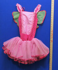 Butterfly Leotard Toddler Girls Halloween Costume Pink Wings & Tutu Size 5-6