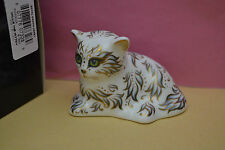 "Royal Crown Derby Paperweight""MILLIE"" The Kitten  1st Quality & Orig Box   NEW"