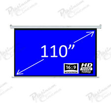 "New 110"" Electric Motorized HD Projection Screen Widescreen 16:9 Matt GREY"